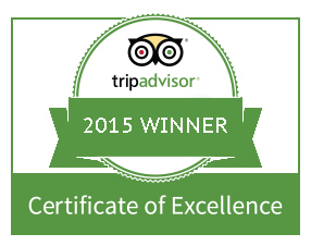 TripAdviser Certificate of Excellence